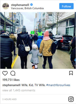 stephenamell: Wife, Kid, TV Wife. #marchforourlives