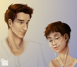 tfios fã art for the birthday girl ♡