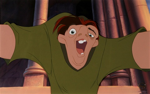 walt Disney studios quasimodo who is thrilled at the thought of being free from hunchback of notre c