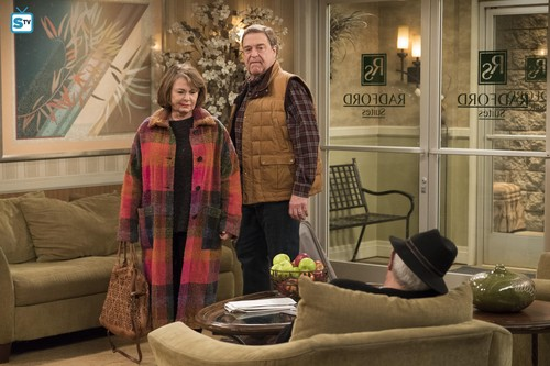 Roseanne Hintergrund called 10x08 - Netflix and Pill - Dan and Roseanne