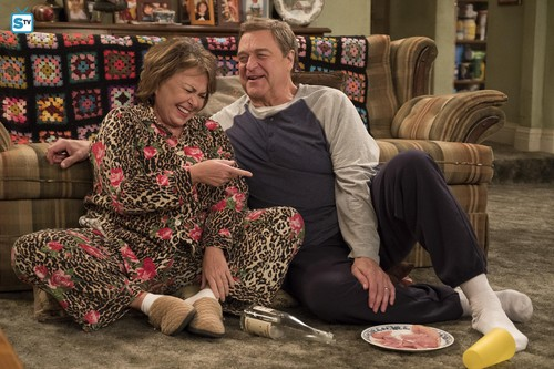 Roseanne karatasi la kupamba ukuta called 10x08 - Netflix and Pill - Dan and Roseanne