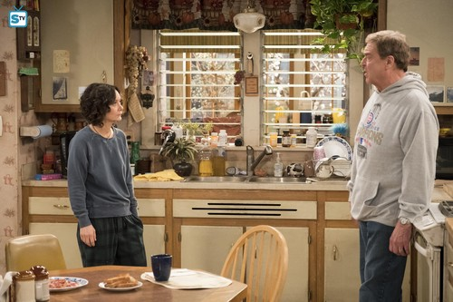 Roseanne karatasi la kupamba ukuta entitled 10x08 - Netflix and Pill - Darlene and Dan