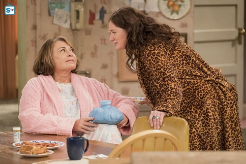 Roseanne 바탕화면 entitled 10x08 - Netflix and Pill - Roseanne and Harris