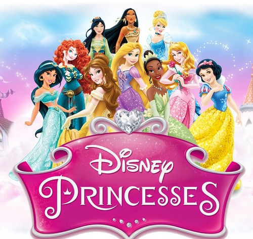 Disney Princess achtergrond called 10 Princesses with the Logo