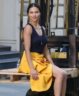 Adriana Lima poses for a photoshoot in New York [April 21, 2018]