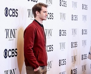 Andrew Garfield attends the 2018 Tony Awards Meet The Nominees Press Junket on May 2, 2018 in NY