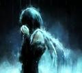Angel crying in the rain