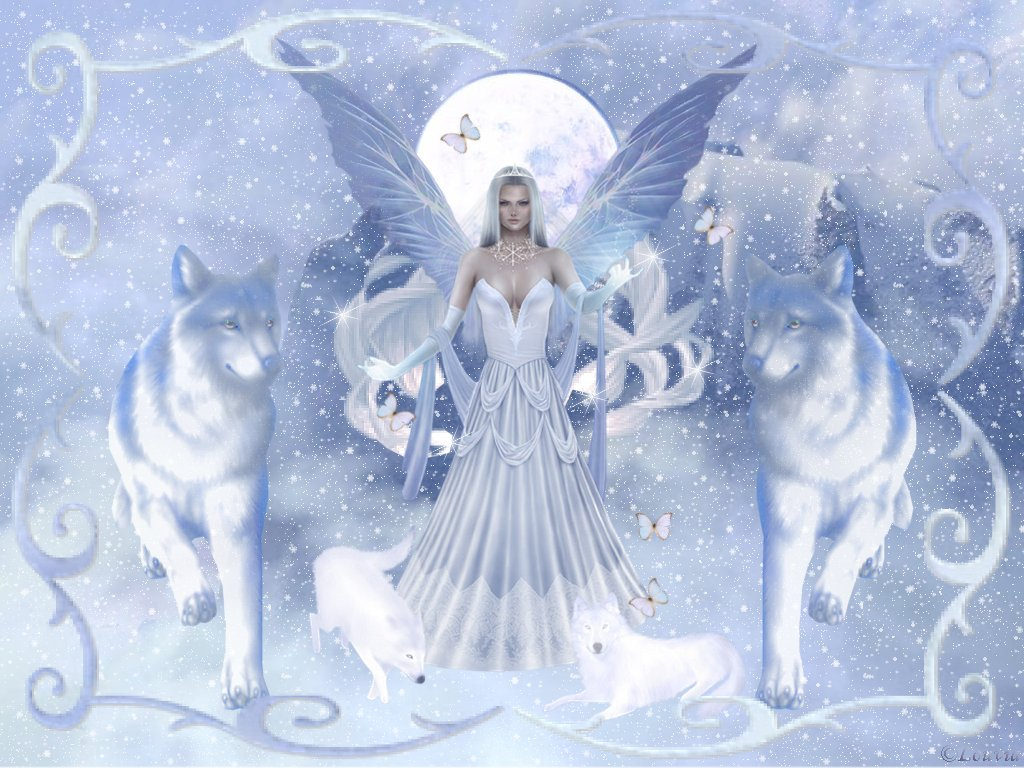 Fantasy Images Angel Of Winter Hd Wallpaper And Background Photos