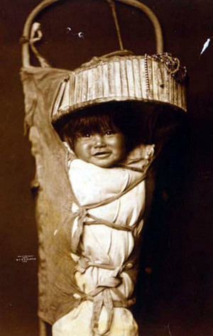 Apache Baby in a cradleboard