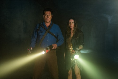 "Ash vs Evil Dead achtergrond called Ash Vs Evil Dead ""The Mettle of Man"" (3x10) promotional picture"