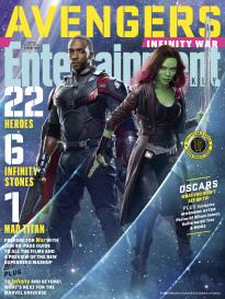 Avengers Infinity War Gamora and 鹘, 猎鹰 EW covers