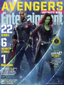 Avengers Infinity War Gamora and 鹘, 猎鹰 EW covers