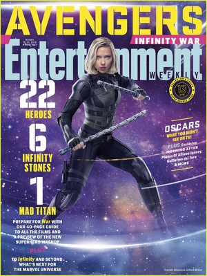 Avengers: Infinity War - Black Widow Entertainment Weekly Cover