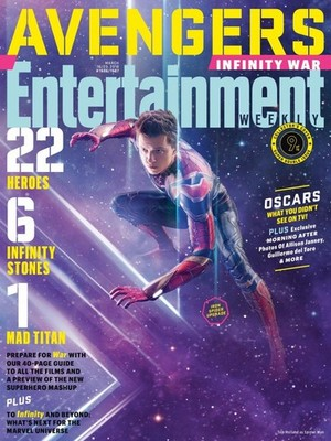 Avengers: Infinity War - Spiderman Entertainment Weekly Cover