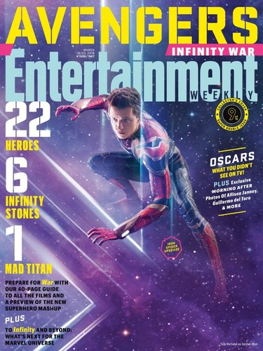 Avengers: Infinity War 1 & 2 壁纸 entitled Avengers: Infinity War - Spiderman Entertainment Weekly Cover