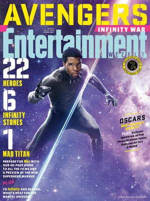 Avengers: Infinity War - Black 豹, 黑豹 Entertainment Weekly Cover