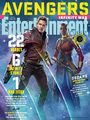 Avengers: Infinity War - Star-Lord and Okoye Entertainment Weekly Cover