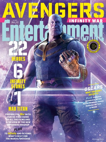 Avengers: Infinity War 1 & 2 壁纸 entitled Avengers: Infinity War - Thanos Entertainment Weekly Cover