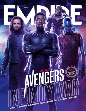 Avengers Infinity War Empire magazine cover