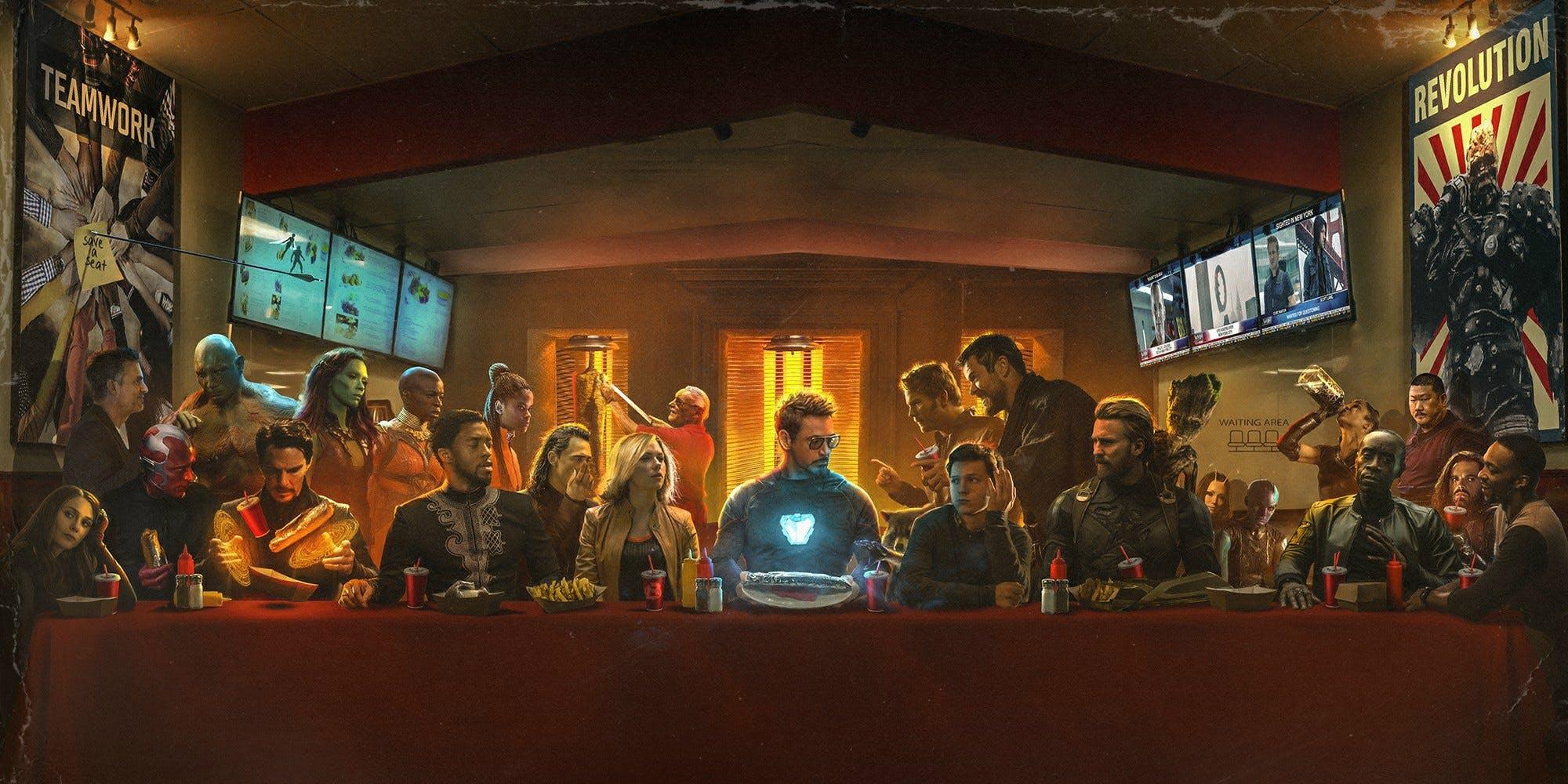 Avengers The Last Shawarma fan art