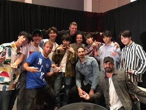 BTS with Backstreetboys