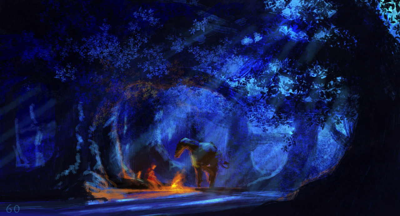 Barbie and the Three Musketeers concept art kwa Walter P Martishius vs. Completed scenes