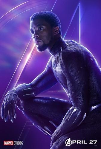Avengers: Infinity War 1 & 2 壁纸 called Black 豹, 黑豹 - Avengers Infinity War character poster