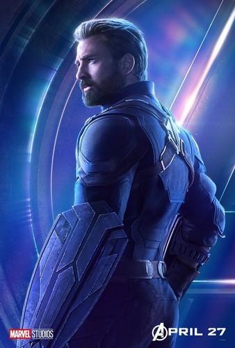 Avengers: Infinity War 1 & 2 hình nền called Captain America - Avengers Infinity War character poster