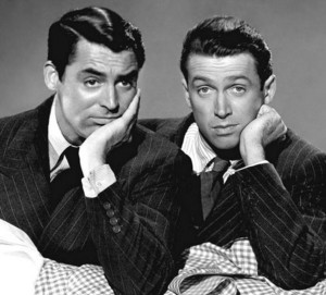 Cary Grant and Jimmy Stewart
