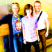 Chandler, Melissa McBride and Chris Hardwick - chandler-riggs icon