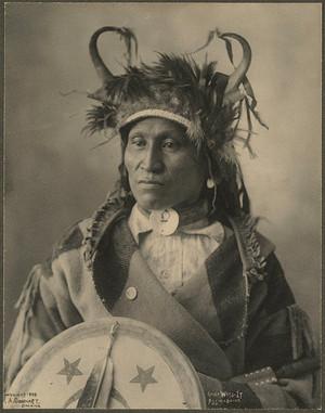 Chief Wets-It (Assiniboine) 1898 Photograph দ্বারা F. A. Rinehart