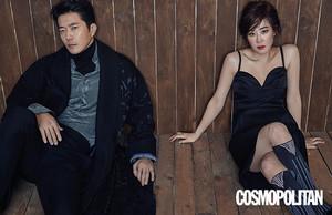 Choi Kang Hee and Kwon Sang Woo Cosmopolitan Feb' 18