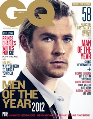 Chris Hemsworth - GQ Australia's Man of the tahun Cover - 2012