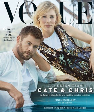 Chris Hemsworth and Cate Blanchett Vogue Australia photoshoot