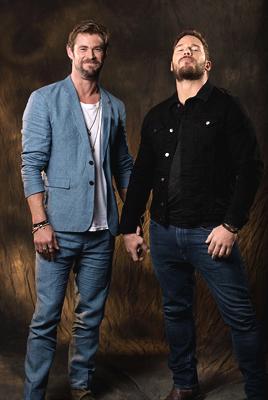 Chris Hemsworth and Chris Pratt - USA Today Photoshoot - 2018