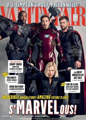Chris and Marvel company on cover of Vanity Fair
