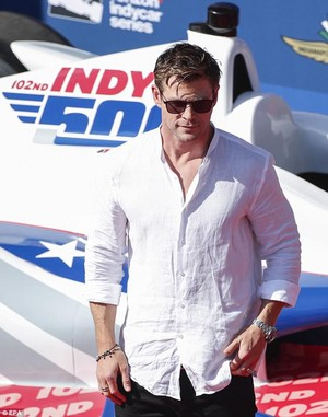 Chris at the Indy 500