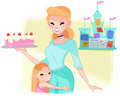 Cinderella's mom life - disney fan art