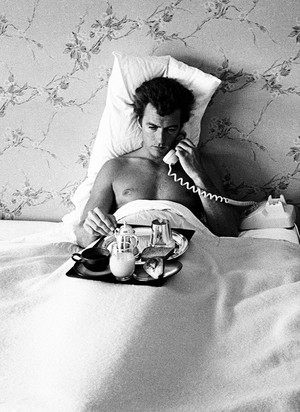 Clint Eastwood photographed by John R. Hamilton at home 1958