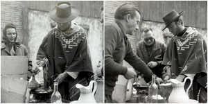 Clint Frying some eggs on the set of For a Few Dollars lebih