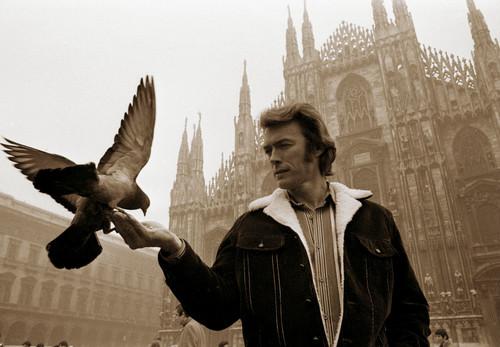 Clint Eastwood wolpeyper titled Clint in Milan (1971) litrato sa pamamagitan ng Mimmo Dabbrescia