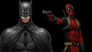 Deadpool Hintergrund Batman Turns His Back
