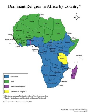 Dominant Religions in Africa