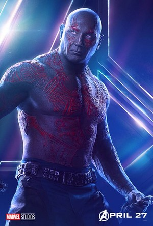 Drax - Avengers Infinity War character poster