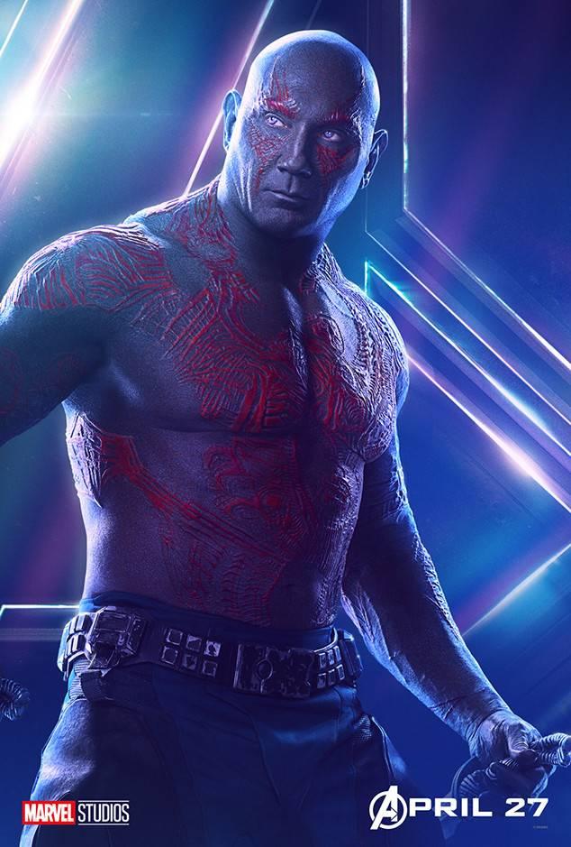 Drax - Avengers Infinity War character poster