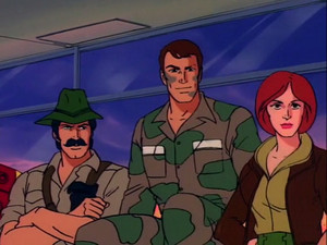 Dusty, Recondo and Covergirl Sunbow G.I.Joe cartoon series