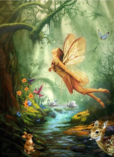 Fairies wallpaper entitled Fairies Of The Forest