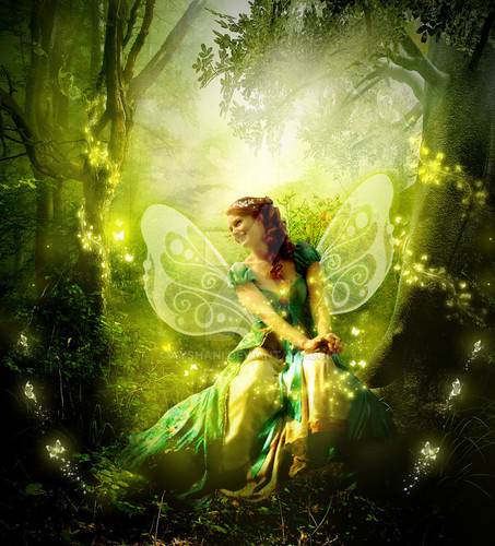 Fairies wallpaper titled Fairies Of The Forest