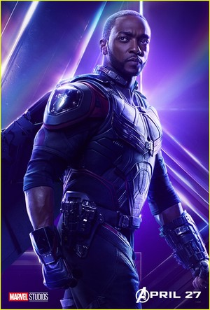 falcon, kozi - Avengers Infinity War character poster