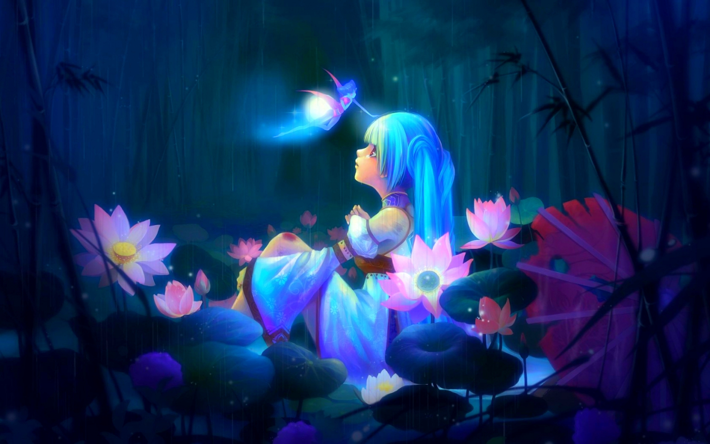 Enchanted Bliss Images Fantasy Miku Hd Wallpaper And Background